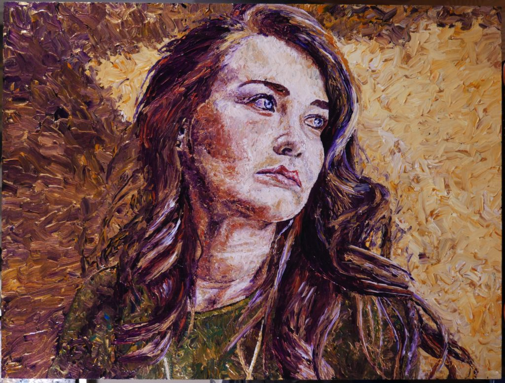 Figurative painting Canadian portrait art by Peter Krenz